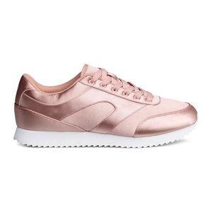 H&M Pink Satin Sneakers